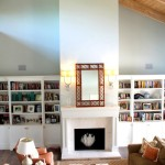 West Palm Beach - South Flagler Dr - Living room Built ins and fire place 1